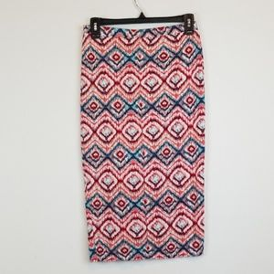 Matty M geometric print Pencil midi skirt